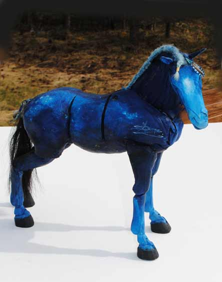 Blue Horse by Equilux - Maria Talasz