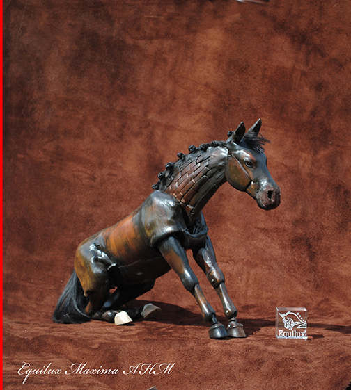 "Maria Talasz - Equilux Articulated Horse ""Maxima"" in sitting position"