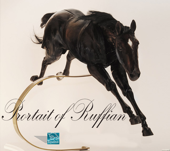 Portrait of Ruffian - the latest articulated horse sculpture