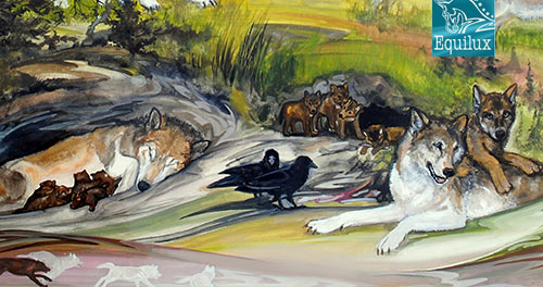 Wolf Song of Alaska - Art by Maria Talasz, Equilux